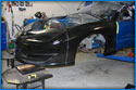 A look at the carbon fiber trans am front clip