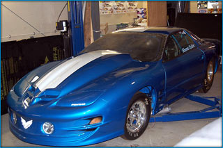 The New Outlaw 10.5 Twin Turbo Trans Am In Paint And Ready For The Engine Install