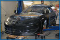 The complete front of the KOS Motorsports Trans Am